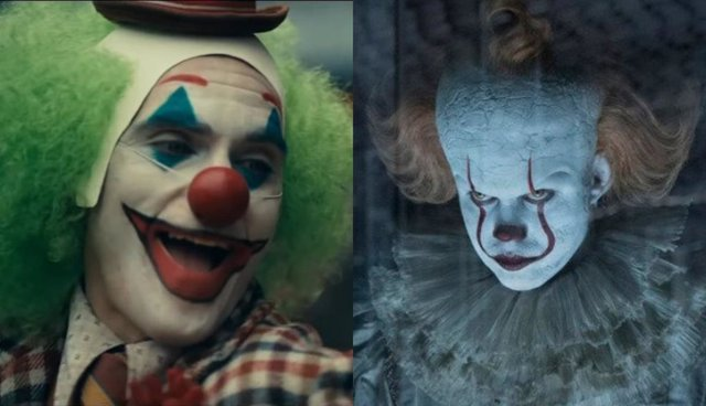 Joaquin Phoenix como el Joker junto a Pennywise, el villano de It 2