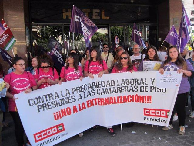 Manifestación de las camareras de piso