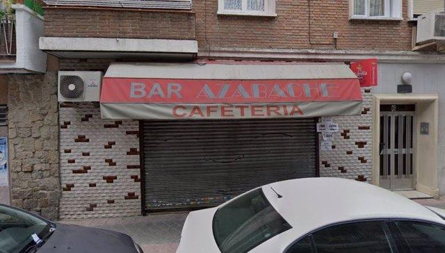 Uno de los locales asaltados esta noche en Madrid