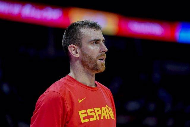 Víctor Claver con la selección española