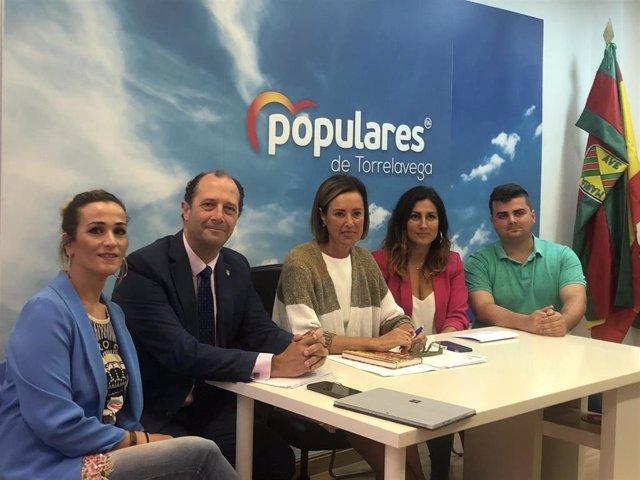 Concejales del PP de Torrelavega