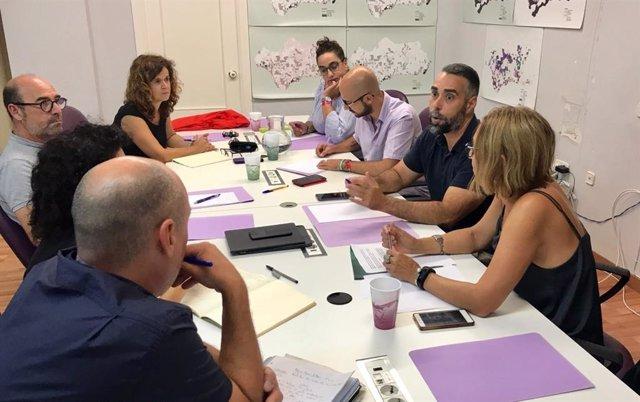 Reunión entre miembros de Podemos y Facua