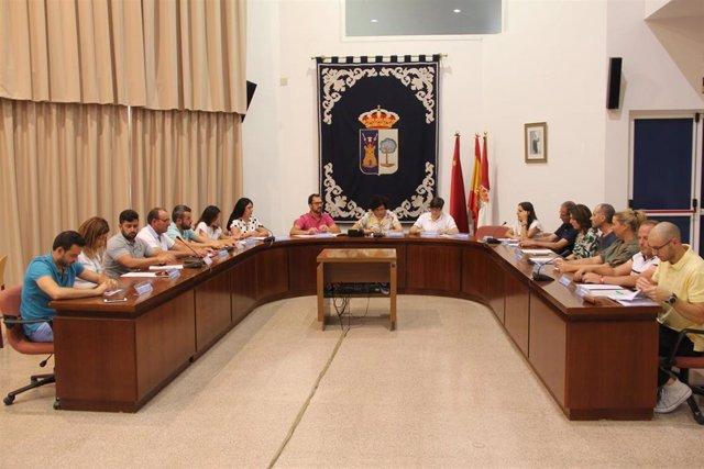 Reunión equipo de Gobierno Puerto Lumbreras, que decide el cese de las funciones de gobierno de la edil de VOX