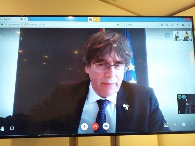 Intervenció de Carles Puigdemont per videoconferncia (ARXIU)