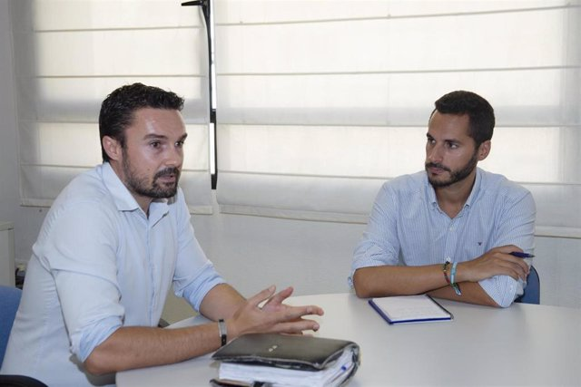 Martín Vila y Mario Fernández, vicepresidente de Diputación, reunidos