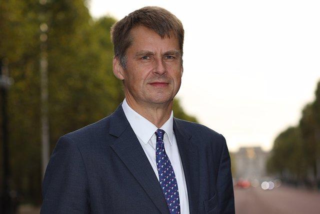 El embajador de España en Reino Unido, Hugh Elliot, en una imagen de archivo