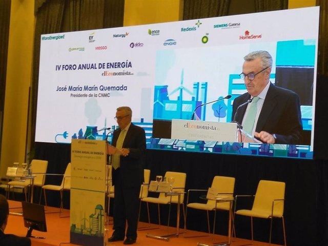 """José María Marín Quemada, presidente de la CNMC, en el IV Foro anual de energía de 'El Economista"""""""