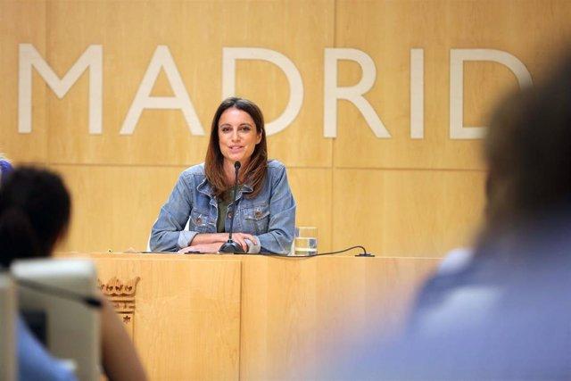 Imagen de archivo de la delegada del área de Cultura, Turismo y Deportes del Ayuntamiento de Madrid, Andrea Levy.