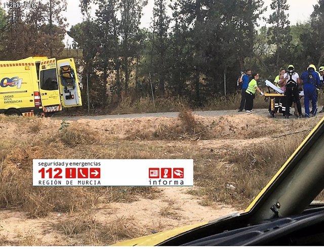 Imagen del rescate en Santomera