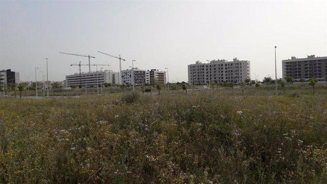 Imagen de archivo de una promoción de viviendas.