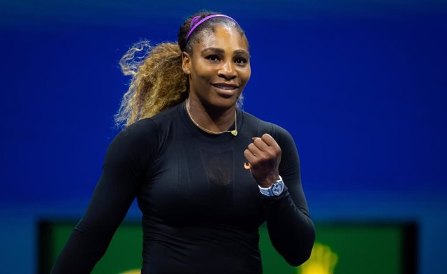 Serena Williams of the United States in action during the semi-final at the 2019 US Open Grand Slam tennis tournament against Elina Svitolina of the Ukraine