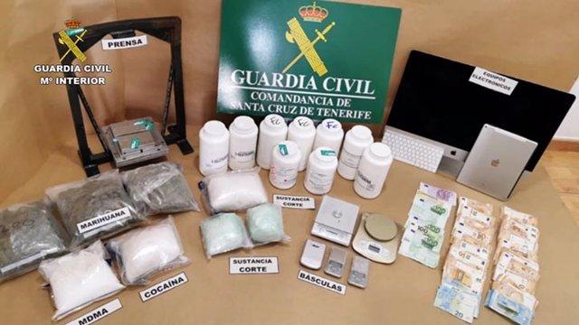 Drogas requisadas por la Guardia Civil en la Operación Poseidón