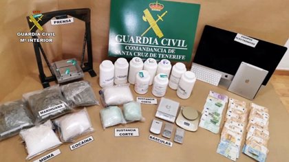 Detienen a seis personas y desmantelan una red que introducía cocaína y éxtasis en Tenerife y La Palma