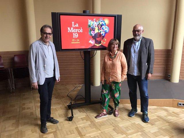 Joan Subirats, Marta Almirall i Óscar Rebollo presenten el programa de la Mercè