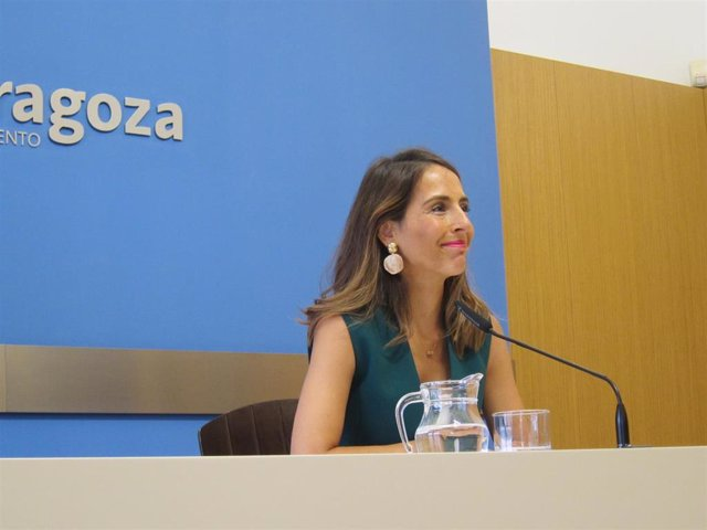 La consejera municipal de Hacienda del Ayuntamiento de Zaragoza, María Navarro.
