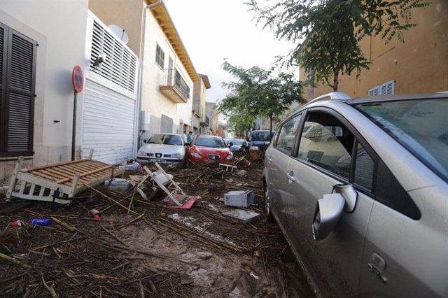 Destrozos en Sant Llorenç provocados por las inundaciones de los días 9 y 10 de octubre.