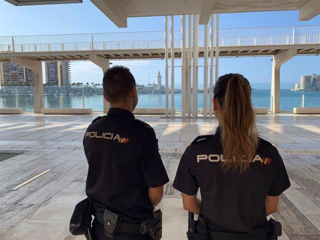 Policías nacionales en Málaga capital