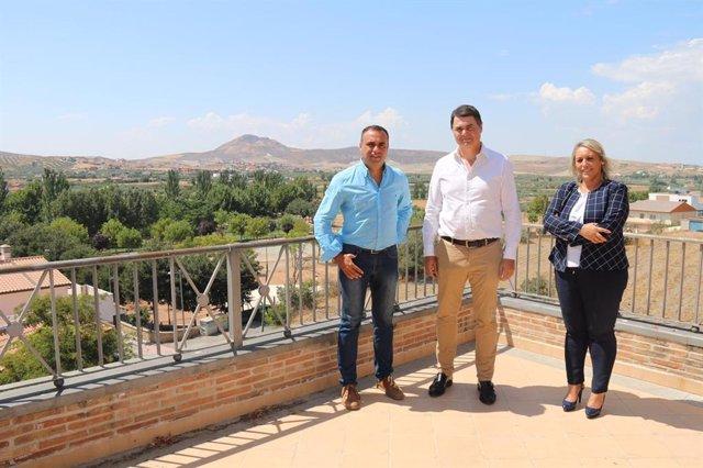 Francisco Rodríguez, Carlos Rojas, y María Merinda Sádaba, del PP