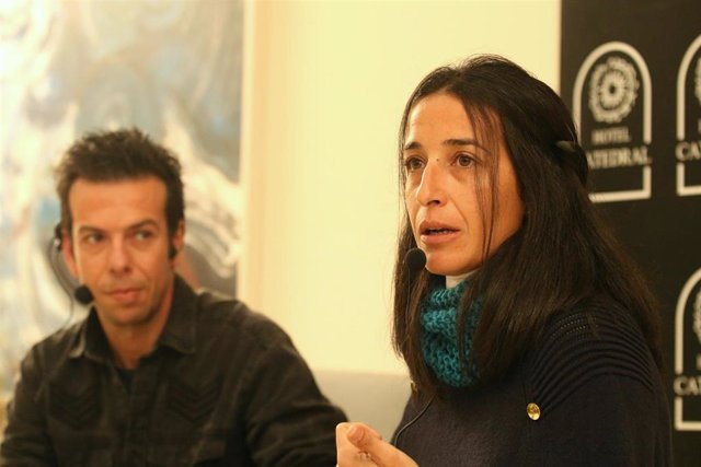 Rueda de prensa de los padres de Gabriel Cruz, Ángel Cruz (i) y Patricia Ramírez (d) con motivo del primer aniversario de su desaparición. En el Hotel Catedral.