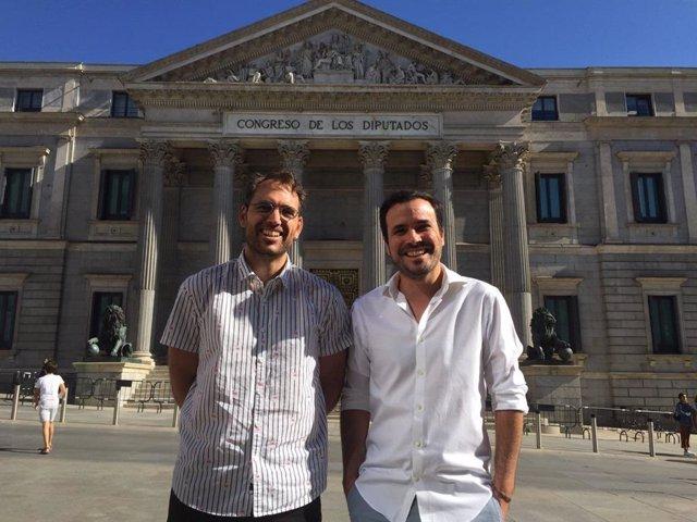 Toni Valero y Alberto Garzón, este viernes