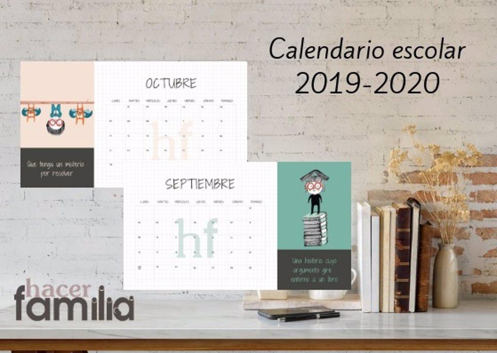 Calendario Escolar 2019 2020 De Hacer Familia