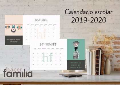 Calendario escolar 2019-2020 de Hacer Familia