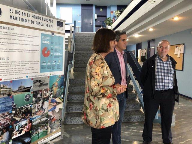 Visita de Pablo Zuloaga al IEO de Santander