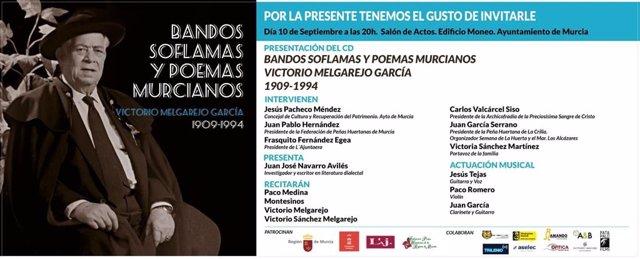Cartel homenaje a Victorio Melgarejo García, panochista y defensor de todo el patrimonio murciano