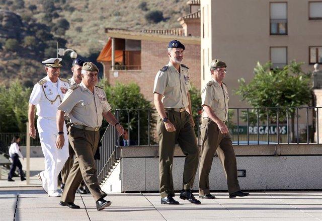 El rey Felipe VI a su llegada al Museo del Ejército en Toledo