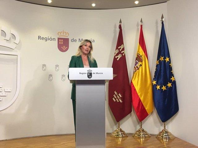 La portavoz regional, Ana Martínez Vidal