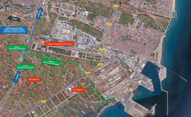 Ramal de acceso ferroviario al Puerto de Sagunto