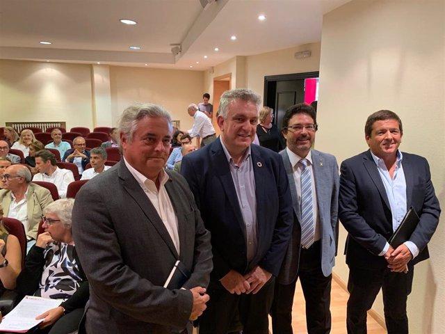 Enric Ticó, Jaume Saltó, Isidre Gavín y Carles Perramon