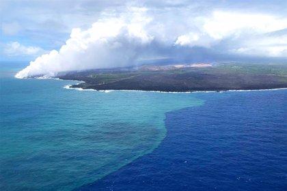 La erupción del volcán Kilauea en 2018 provocó una súper floración de algas en el Océano Pacífico Norte