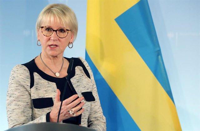 La ministra de Exteriores de Suecia, Margot Wallstrom