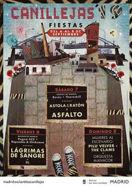 Recurso del cartel de las fiestas de Canillejas sin la referencia a la lucha contra la violencia machista.