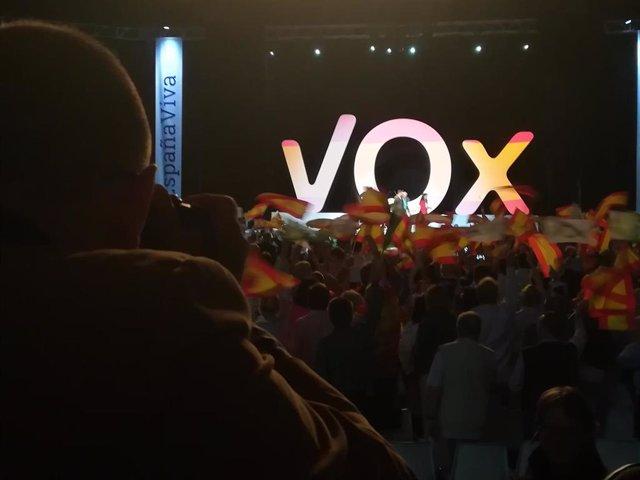 Acto de Vox en Vistalegre (Madrid) en 2018