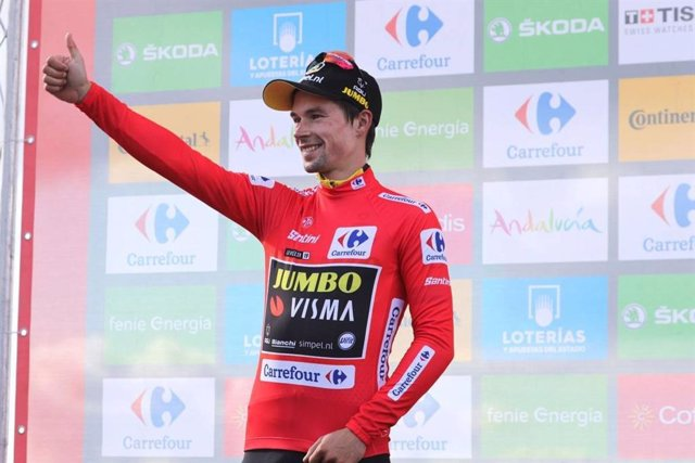 El ciclista esloveno Primoz Roglic (Team Jumbo-Visma).
