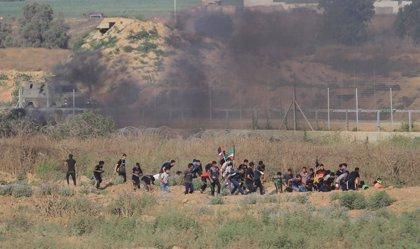 O.Próximo.- Dos palestinos muertos y más de 70 heridos por los enfrentamientos con las tropas israelíes en Gaza