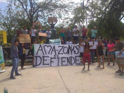 """Los indígenas que se han manifestado en Leticia contra la deforestación amazónica denuncian que """"no hay agua"""""""