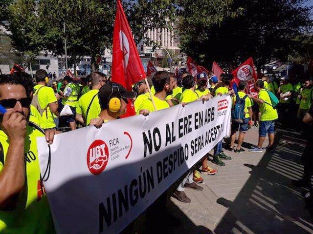 Trabajadores de ABB se manifiestan en Madrid en contra del ERE (Foto de archivo).