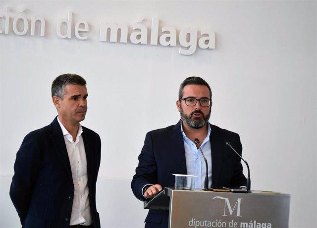 Los diputados provinciales del PSOE José Bernal y Manuel Chicon