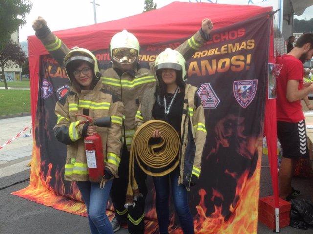 Los bomberos profesionales de CyL se suman a la campaña nacional para recoger firmas con el fin de promover la elaboración de una ley de coordinación de Servicios Profesionales de Extinción de Incendios y Salvamento.