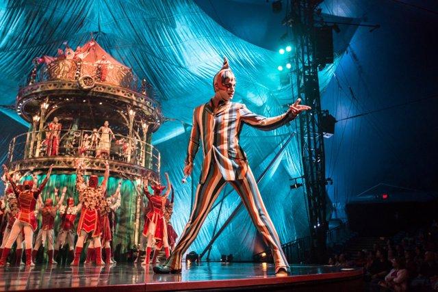 Imagen de una función de 'Kooza' de Cirque du soleil (archivo)