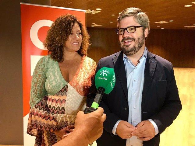 El secretario de Organización de Ciudadanos y diputado en el Congreso por Granada, Fran Hervías, atiende a medios
