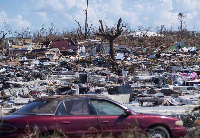 Destrucción tras el paso del huracán por Bahamas 'Dorian'
