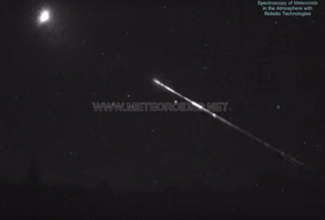 Impacto de una roca de asteroide contra la atmósfera el 7 de septiembre de 2019.