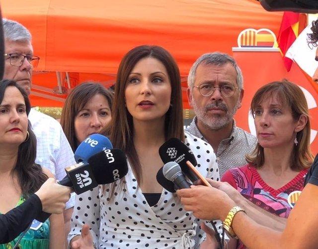 La portaveu de Cs en el Parlament, Lorena Roldán.