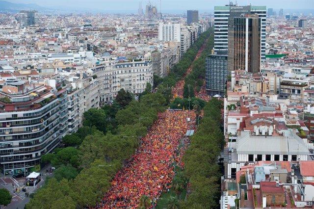 Manifestación por la Diada de 2018