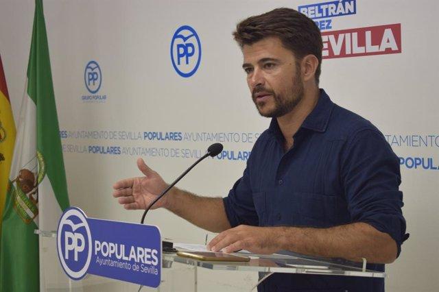 El portavoz del PP en el Ayuntamiento de Sevilla, Beltrán Pérez, en una imagen de archivo