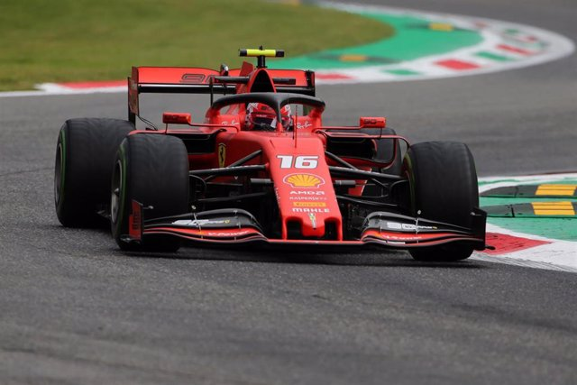 06 September 2019, Italy, Monza: Monegasque Formula One driver Charles Leclerc of Scuderia Ferrari takes part in the first practices of the 2019 Grand Prix of Italy at the Monza Eni Circuit. Photo: -/Photo4/Lapresse via ZUMA Press/dpa